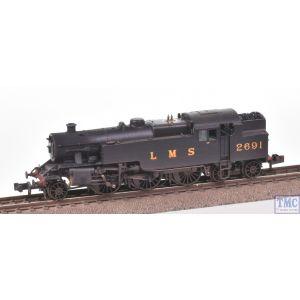 372-750 Graham Farish N Gauge Fairburn 2-6-4 Tank 2691 LMS Black Real Coal & Weathered by TMC