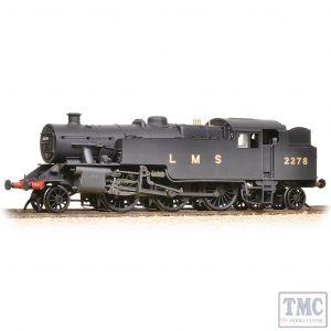 372-754 Graham Farish N Gauge LMS Fairburn Tank 2278 LMS Black (Revised) - Weathered