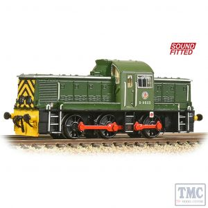 372-950ASF Graham Farish N Gauge Class 14 D9522 BR Green (Wasp Stripes) - Sound Fitted