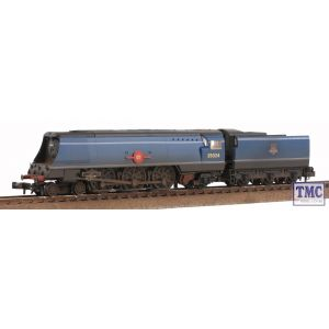 372-310 Graham Farish N Gauge Merchant Navy Class 35024 East Asiatic Company BR Blue E/Emblem Real Coal Weathered by TMC