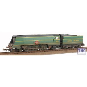 372-313 Graham Farish N Gauge Merchant Navy Class 35021 New Zealand Line BR Malachite Real Coal & Weathered by TMC