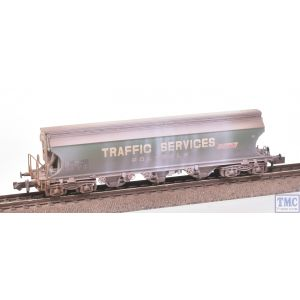 373-235 Graham Farish N Gauge Bulk Grain Bogie Hopper Wagon Traffic Services Weathered by TMC