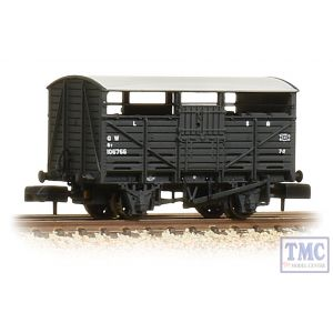 373-261B Graham Farish N Gauge 8 Ton Cattle Wagon GWR Dark Grey