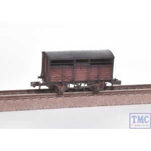 373-262B Graham Farish N Gauge 8 Ton Ale Wagon BR Bauxite with Extra Detail Weathering by TMC