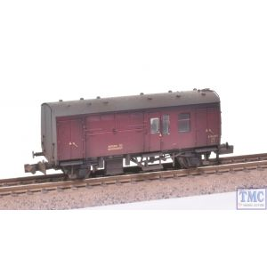 373-360A Graham Farish N Gauge BR Mk1 Horse Box Maroon Extra Detail Weathering by TMC