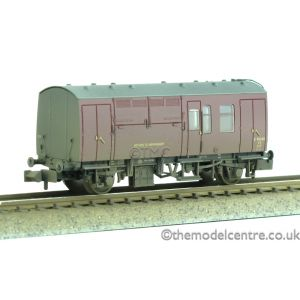 373-360 Graham Farish N Gauge BR Mk1 Horse Box Maroon Weathered by TMC
