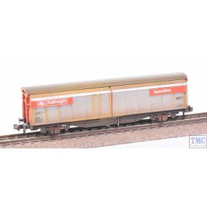 373-601D Graham Farish N Gauge BR VGA Van BR Railfreight Red (Speedlink) with Extra Detail Weathering by TMC