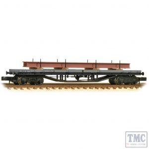 373-926D Graham Farish N Gauge 30T Bogie Bolster C BR Grey (Early) - Includes Wagon Load