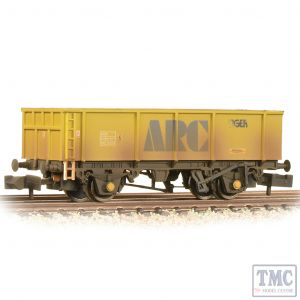 373-976B Graham Farish N Gauge POA Mineral Wagon 'ARC Tiger' Yellow - Weathered