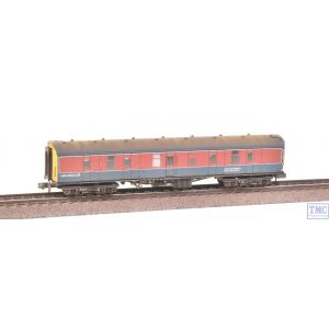 374-043 Graham Farish N Gauge BR Mk1 BG Full Brake Coach Laboratory 23 RTC Livery Weathered by TMC