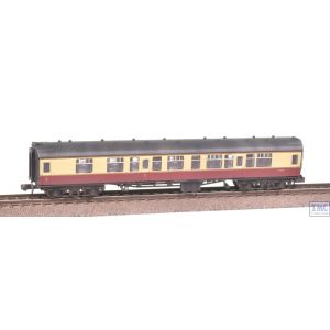 374-255C Graham Farish N Gauge BR Mk1 CK Composite Corridor Coach Crimson & Cream Weathered by TMC