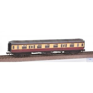 374-560 Graham Farish N Gauge Hawksworth Corridor 1st/3rd Composite Coach BR Crimson & Cream Weathered by TMC