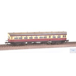 374-610 Graham Farish N Gauge Auto Trailer BR Crimson & Cream Weathered by TMC