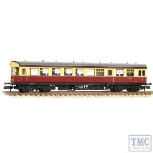 374-610 Graham Farish N Gauge GWR Hawksworth Auto-Trailer BR Crimson & Cream