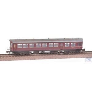374-611 Graham Farish N Gauge Auto Trailer BR Maroon Weathered by TMC