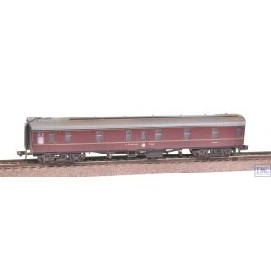 374-925A Graham Farish N Gauge BR Mk1 SLSTP Sleeping Car Second Maroon Weathered by TMC