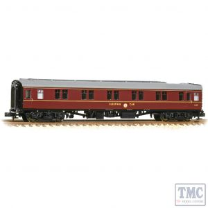 374-925A Graham Farish N Gauge BR Mk1 SLSTP Sleeper Second BR Maroon