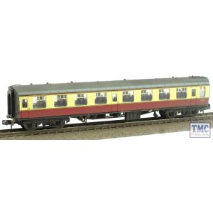 374-010D Graham Farish N Gauge BR Mk1 SO Second Open Coach Crimson & Cream Weathered by TMC