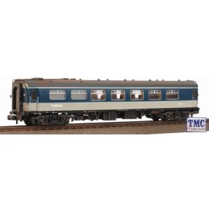374-221A Graham Farish BR Mk1 FK Pullman First Kitchen Car Grey & Blue Weathered By TMC