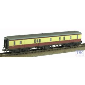 374-585 Graham Farish N Gauge Hawksworth Full Brake BR Crimson & Cream Weathered by TMC