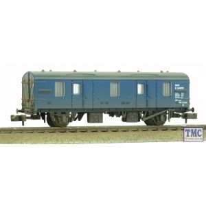 374-787 Graham Farish N Scale 4 Wheel CCT Van BR Blue Weathered By TMC