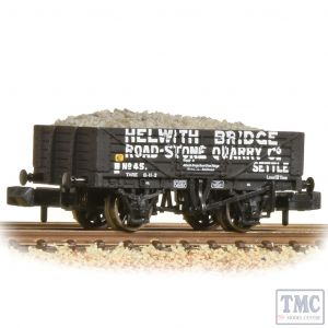 377-032 Graham Farish N Gauge 5 Plank Wagon Steel Floor 'Helwith Bridge Road Stone' Grey - Includes Wagon Load