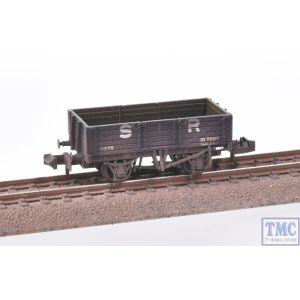 377-063 Graham Farish N Gauge 5 Plank Wagon Wooden Floor SR Brown (includes Wagon Load) Weathered by TMC