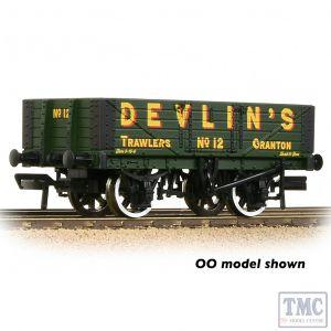 377-067 Graham Farish N Gauge 5 Plank Wagon Wooden Floor 'Devlin's Trawlers' Green
