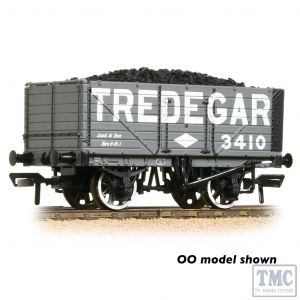 377-093 Graham Farish N Gauge 7 Plank Wagon End Door 'Tredegar' Grey - Includes Wagon Load
