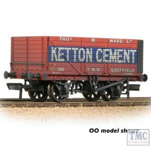 377-126C Graham Farish N Gauge 8 Plank Wagon End Door 'Ketton Cement' Red - Weathered