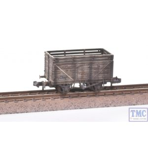 377-207 Graham Farish N Gauge 8 Plank Wagon with Coke Rails BR (P No.) Extra Detail Weathering by TMC