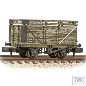 377-207 Graham Farish N Gauge 8 Plank Wagon Coke Rails Refurbished BR P No. (Ex-Private Owner) - Weathered
