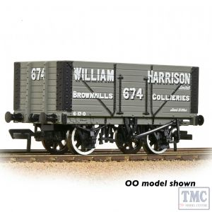 377-209 Graham Farish N Gauge 8 Plank Wagon Fixed End 'William Harrison Grey