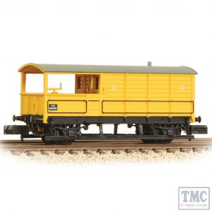 377-379 Graham Farish N Gauge GWR 20T 'Toad' Brake Van BR Departmental Yellow