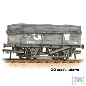 377-475 Graham Farish N Gauge 5 Plank China Clay Wagon GWR Grey With Tarpaulin Cover - Weathered