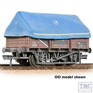 377-476 Graham Farish N Gauge 5 Plank China Clay Wagon BR Bauxite (TOPS) With Hood - Weathered