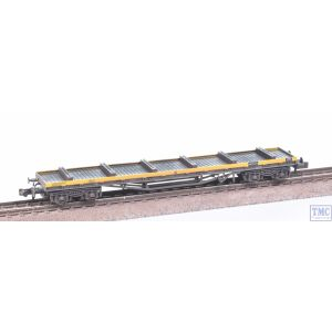 377-603A Graham Farish N Gauge BR YAA Brill Bogie Bolster BR Engineers Grey & Yellow (incl. Load) with VALUE Weathering by TMC