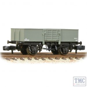 377-957 Graham Farish N Gauge LNER 13T Steel Open With Smooth Sides Wooden Door BR Grey (Early)
