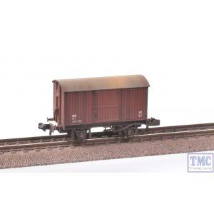 377-975A Graham Farish N Gauge 12 Ton Eastern Ventilated Van Planked Ends LNER Oxide Deluxe Weathering by TMC