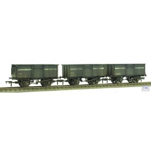 37-236 Bachmann OO Gauge 16 Ton Steel Mineral Wagons (Triple Pack) NCB Dark Grey Enhanced Weathering By TMC