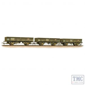 38-105 Bachmann OO Gauge Triple Pk 34 Tonne PNA Ballast/Spoil Wagons Railtrack 5 Rib Weathered