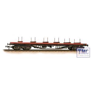 38-151C Bachmann OO Gauge BR BDA Bogie Bolster BR Railfreight Red - Weathered