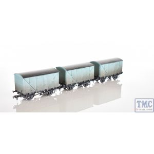 38-190Z Bachmann OO/HO Scale 10T BR Insulated Vans Blue Factory Weathered