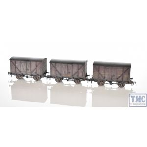 38-191Y Bachmann OO Gauge Insulated Ale Vans BR Bauxite Factory Weathered (Triple Pack) - TMC Limited Edition