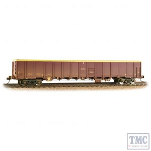 38-243 Bachmann OO Gauge MBA Megabox High-Sided Bogie Box Wagon EWS Weathered (with Buffers)