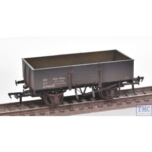 38-329A Bachmann OO Gauge 13 Ton H/Sided Steel Wagon (Smooth Sides & Wooden Doors) LNER Grey