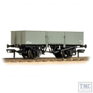 38-330 Bachmann OO Gauge 13 Ton H/Sided Steel Wagon (Smooth Sides & Wooden Doors) BR Grey