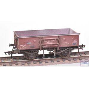 38-452A Bachmann OO Gauge 13 Ton Open Wagon with Sheet Rail Highbar BR Bauxite (Late)