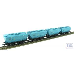 38-500Y Bachmann OO Gauge Pack of 4 BSC Ice Blue Covhop Wagons TMC Exclusive B870798 B886648 B870840 & B886704