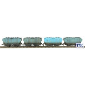 38-500Z Bachmann OO Gauge Pack of 4 Blue Sugar Covhop Wagons *TMC Exclusive* with Deluxe (Mixed) Weathering by TMC